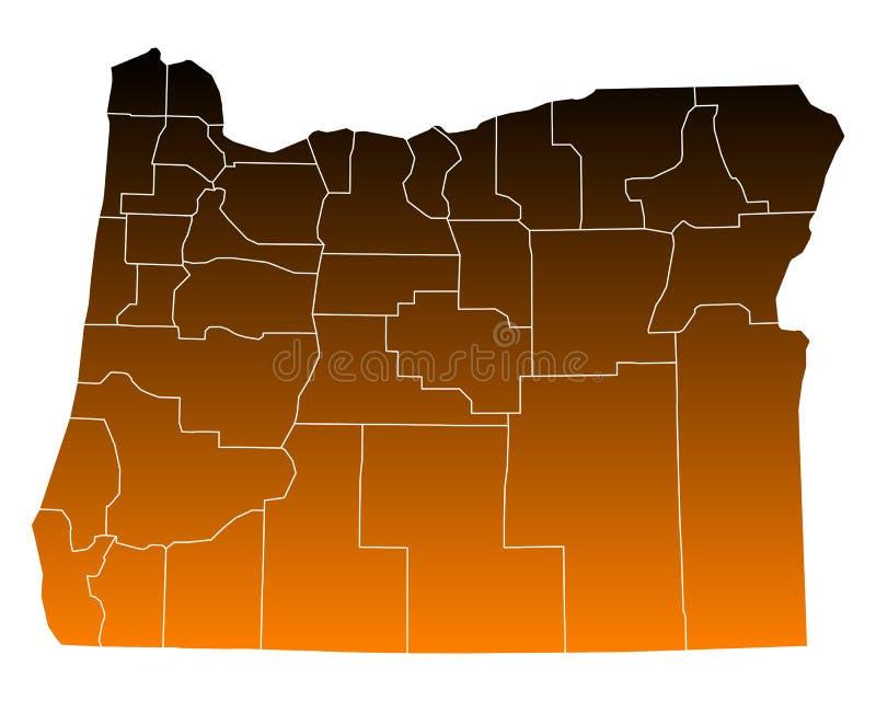 mapa Oregon ilustracja wektor