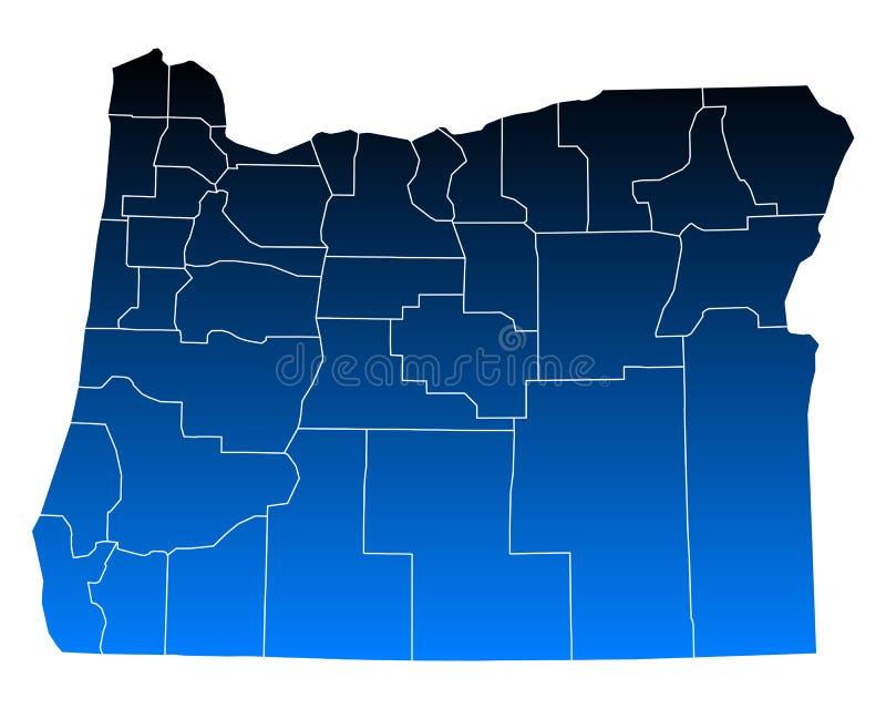 mapa Oregon ilustracji