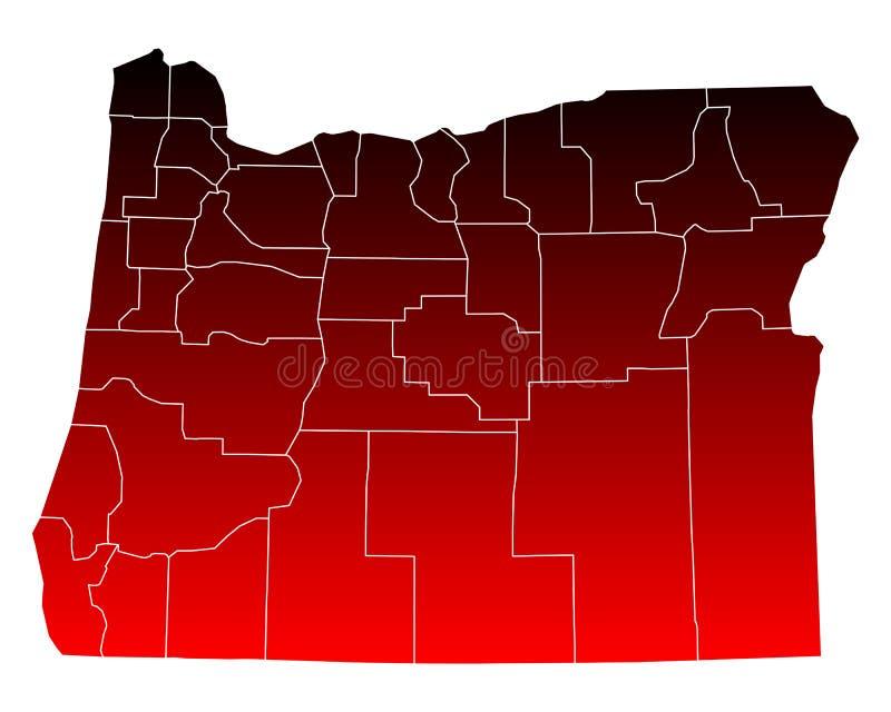 mapa Oregon royalty ilustracja