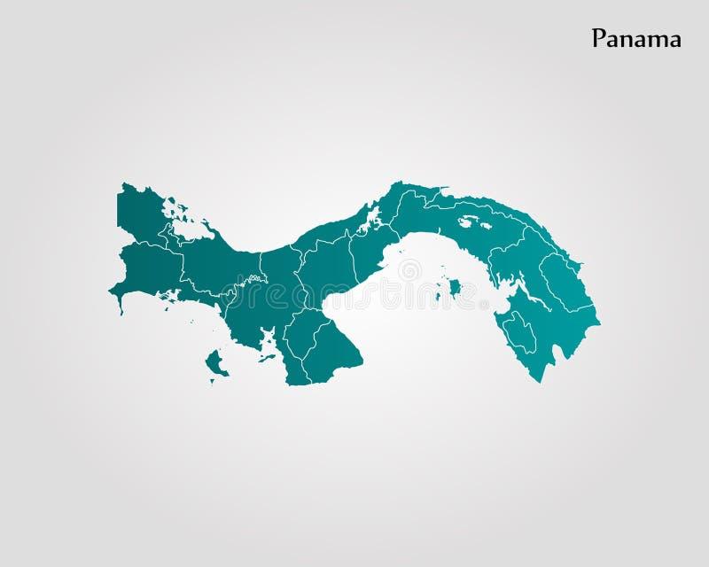 mapa Panama ilustracji