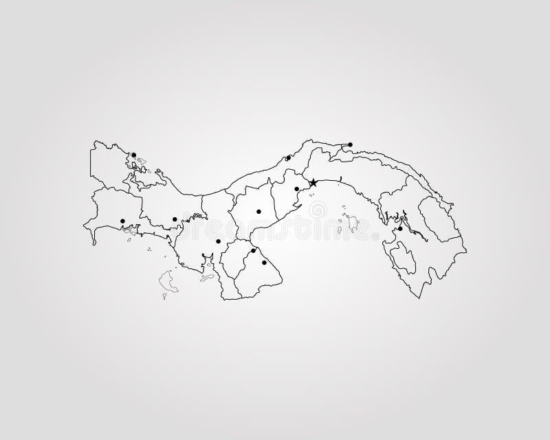 mapa Panama royalty ilustracja