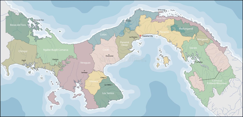 mapa Panama ilustracja wektor