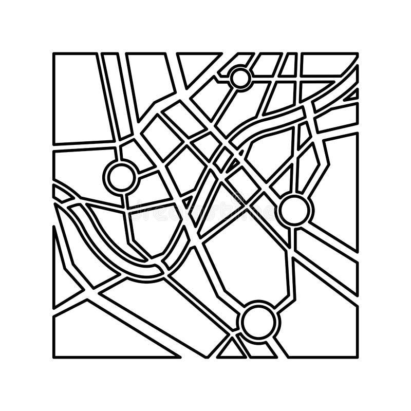 Mapa papierowego przewdonika odosobniona ikona royalty ilustracja