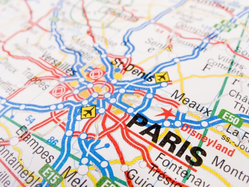 mapa Paris obraz stock