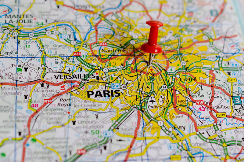mapa Paris obraz royalty free
