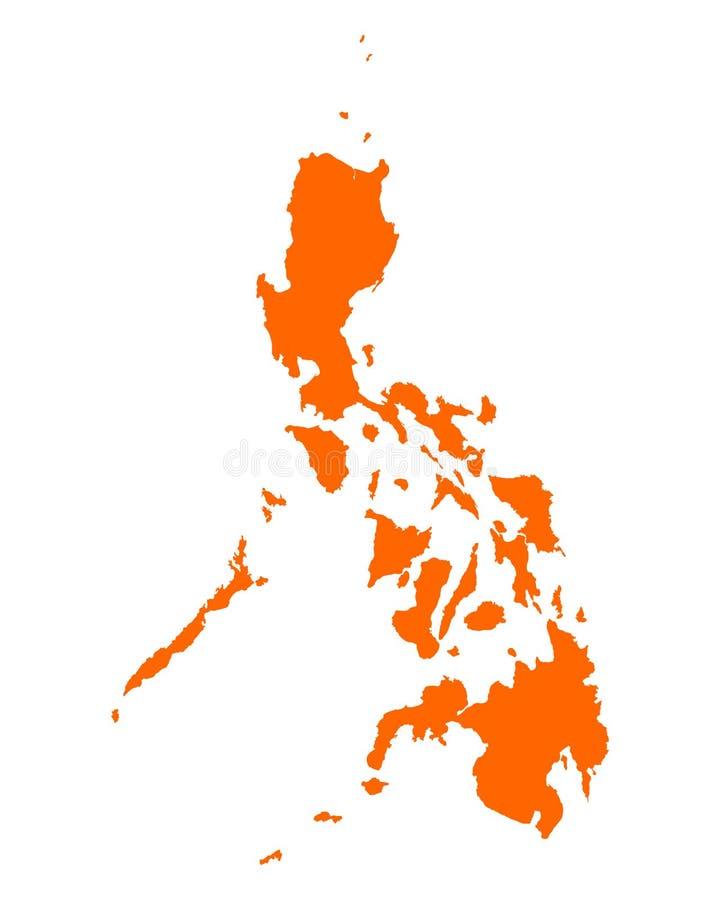 mapa Philippines ilustracja wektor