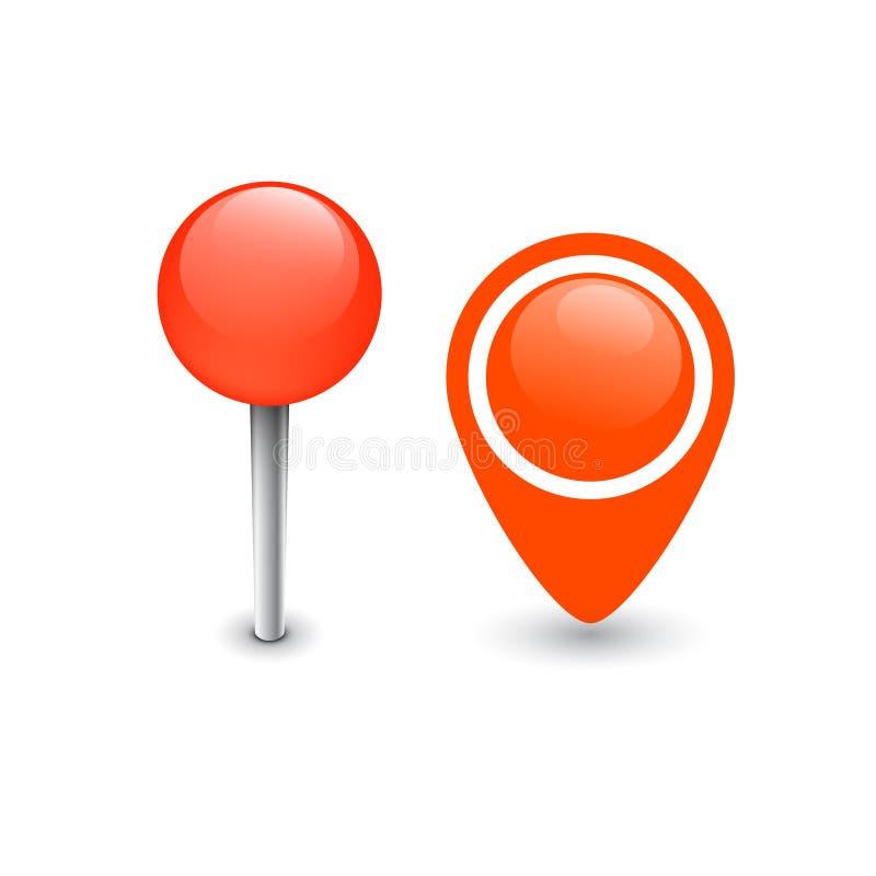 Mapa Pin Marker stock de ilustración