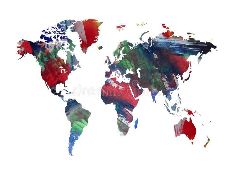 Mapa pintado ilustração stock