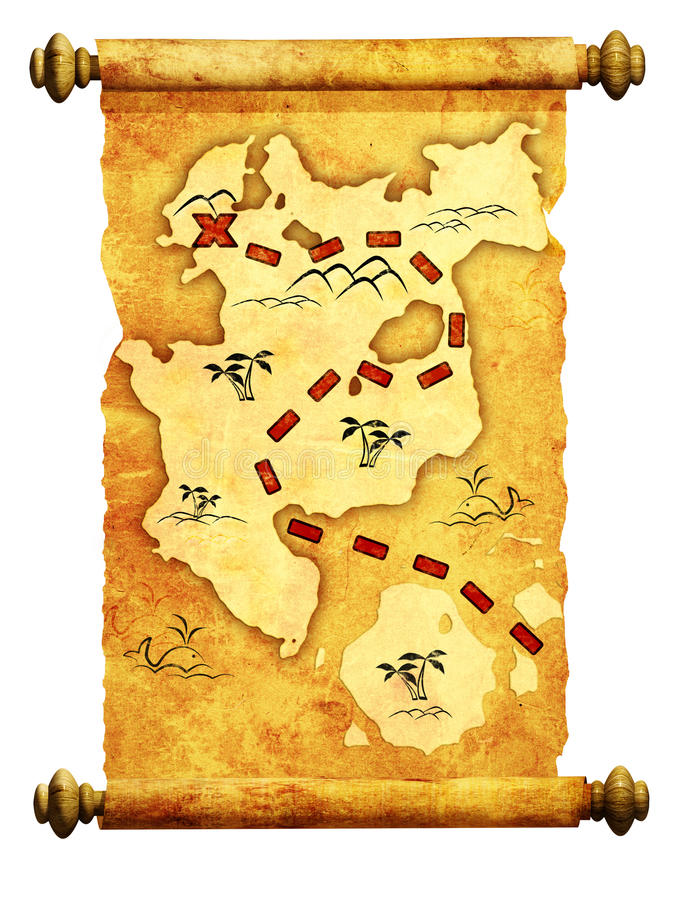 mapa pirat ilustracja wektor