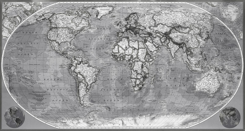 Mapa planety ziemia zdjęcia stock