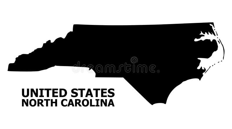 Mapa plano del vector de Carolina State del norte con el subtítulo libre illustration