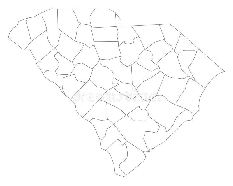 Mapa Południowa Karolina ilustracja wektor
