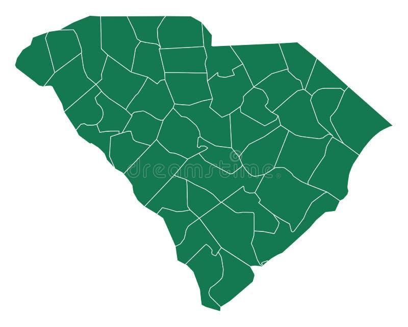 Mapa Południowa Karolina ilustracji