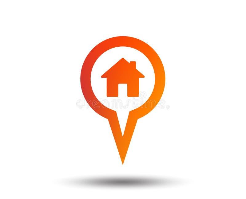 Mapa pointeru domu znaka ikona Markiera symbol royalty ilustracja