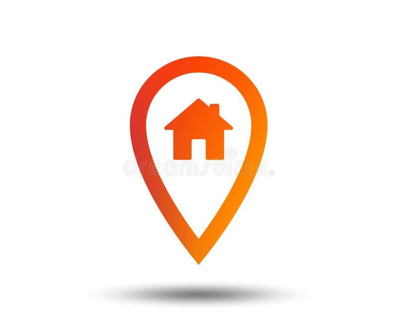 Mapa pointeru domu znaka ikona Markiera symbol ilustracja wektor