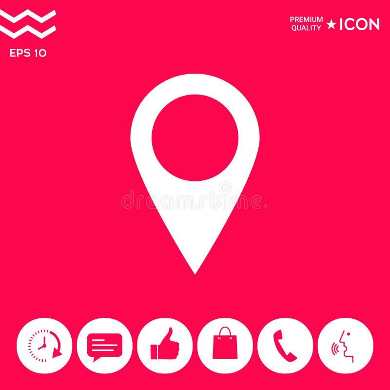Mapa pointeru ikona royalty ilustracja