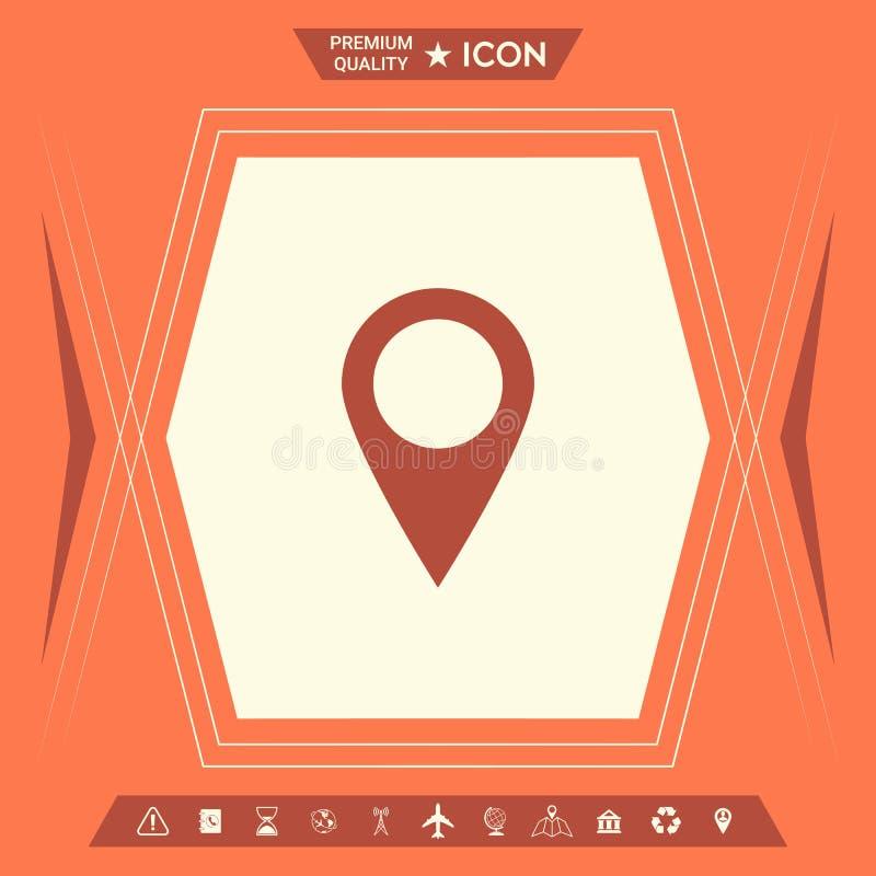 Mapa pointeru ikona ilustracji