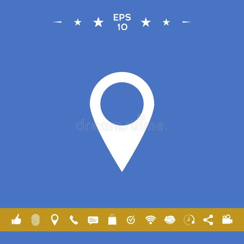 Mapa pointeru ikona ilustracja wektor