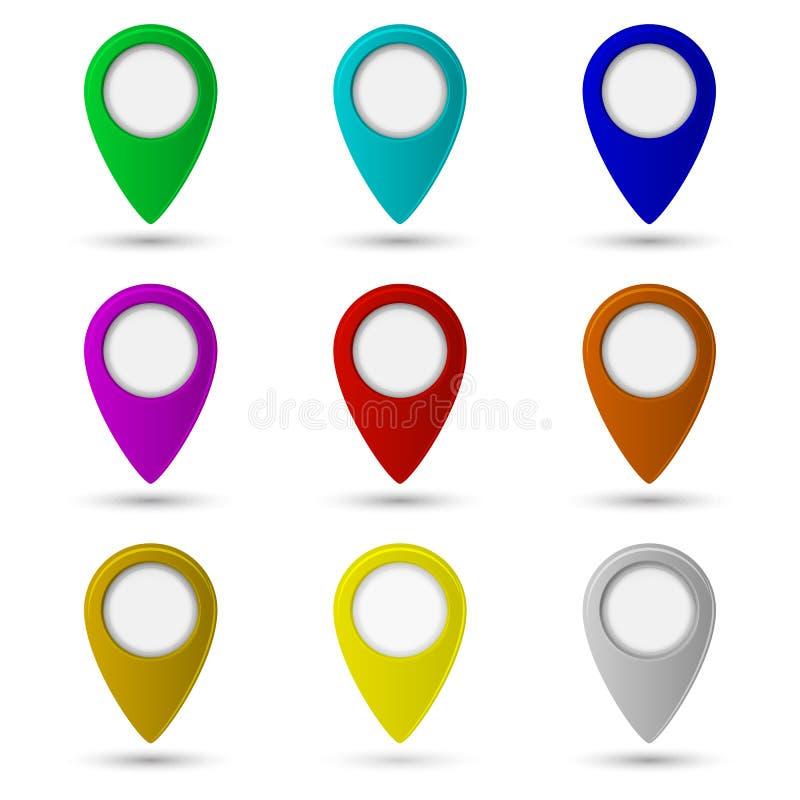 Mapa pointeru ikona lokacja symbol ilustracja wektor