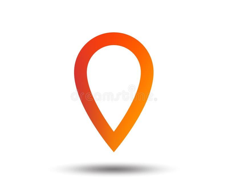 Mapa pointeru znaka ikona Markiera symbol royalty ilustracja
