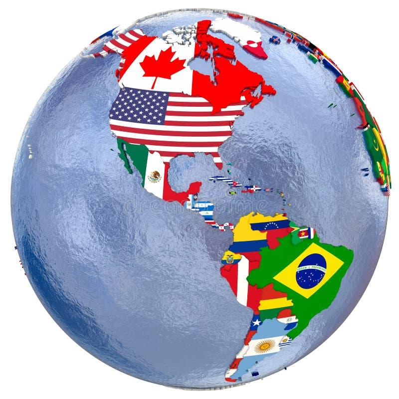 Mapa político de Americas imagem de stock royalty free