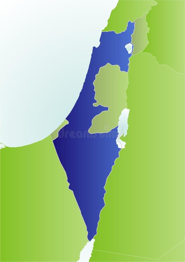 Mapa político de Israel ilustração do vetor