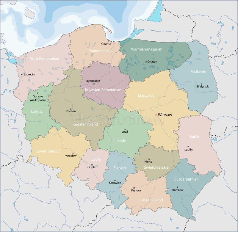 mapa Poland royalty ilustracja