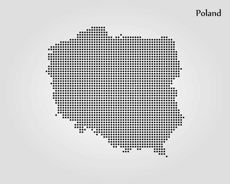 mapa Poland r?wnie? zwr?ci? corel ilustracji wektora mapa ilustracyjny stary ?wiat ilustracja wektor