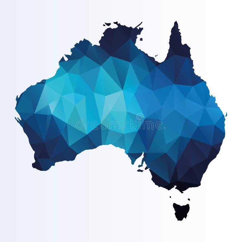 Mapa poligonal de Austrália ilustração royalty free
