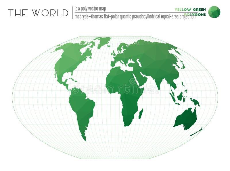 Mapa poligonal do mundo ilustração do vetor