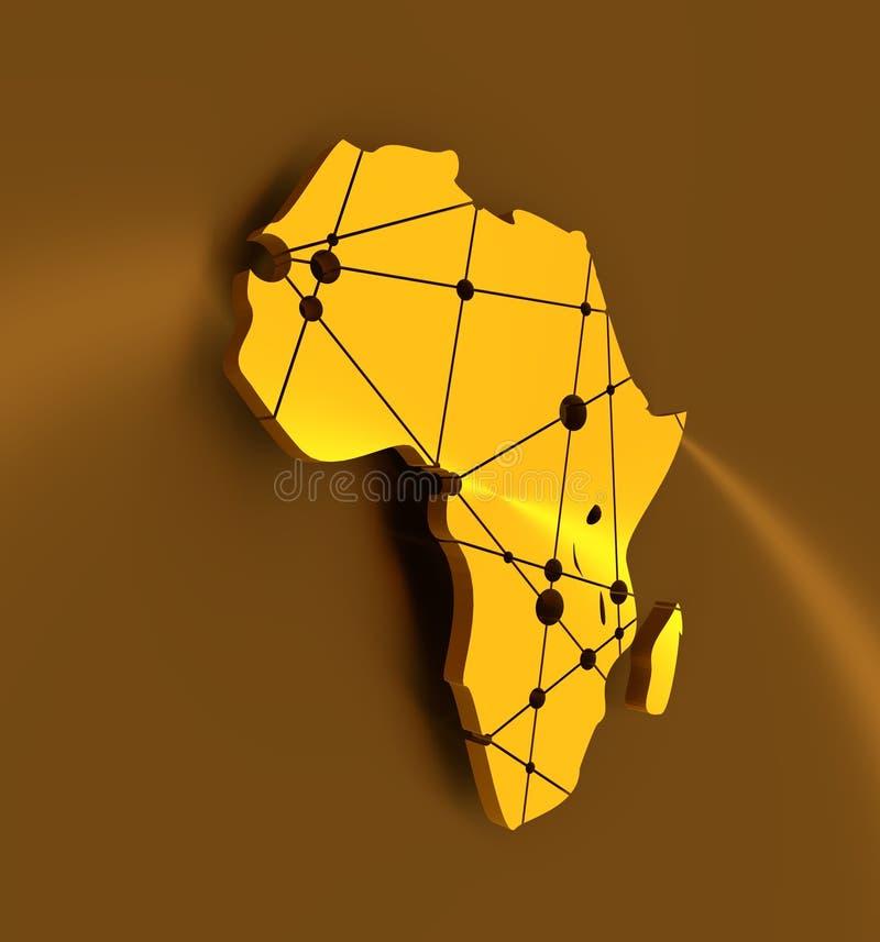 Mapa polivinílico bajo de África libre illustration
