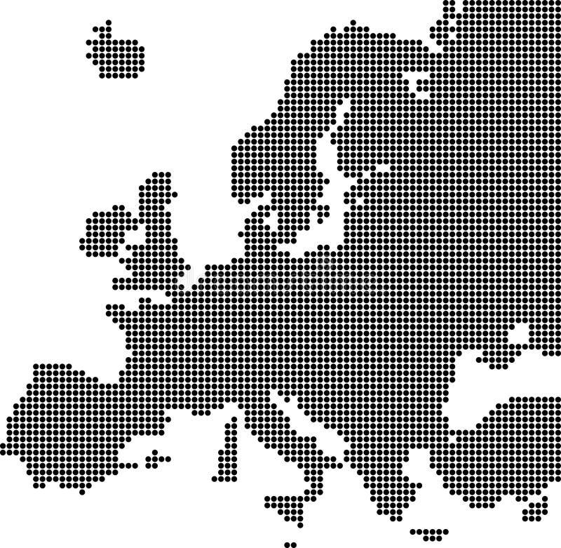 Mapa pontilhado de Europa ilustração stock