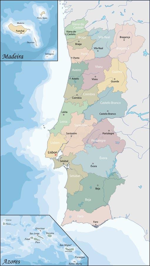 mapa Portugal ilustracji