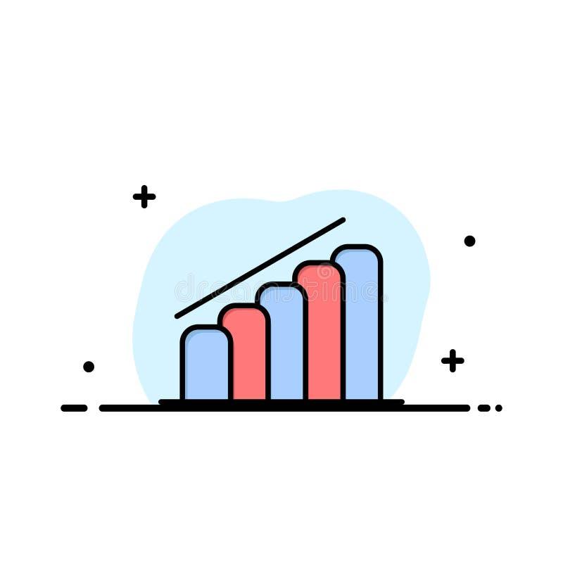 Mapa, postęp, raport, analiza logo Biznesowy szablon p?aski kolor ilustracja wektor