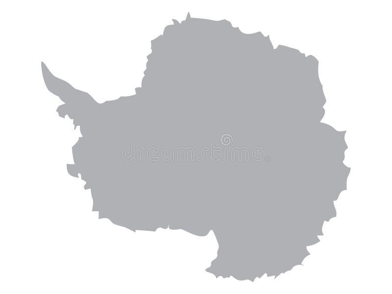 Mapa preto da Antártica ilustração do vetor