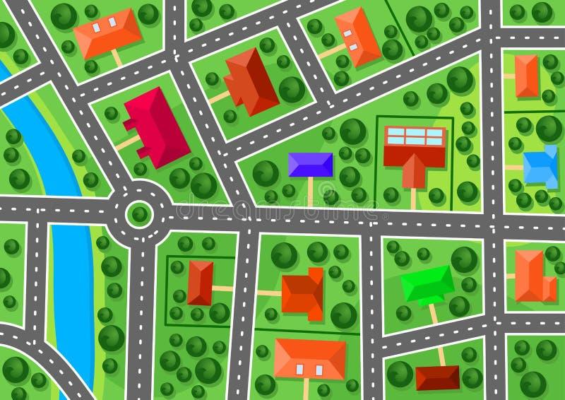Download Mapa przedmieście ilustracja wektor. Obraz złożonej z mapa - 31813736