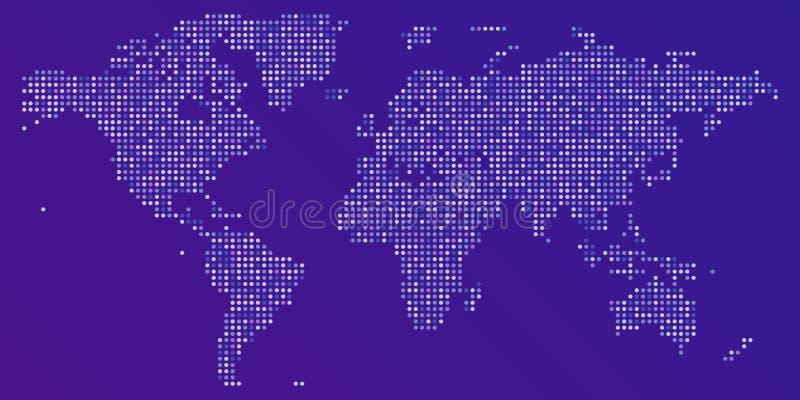 Mapa punteado colorido del vector del mundo libre illustration
