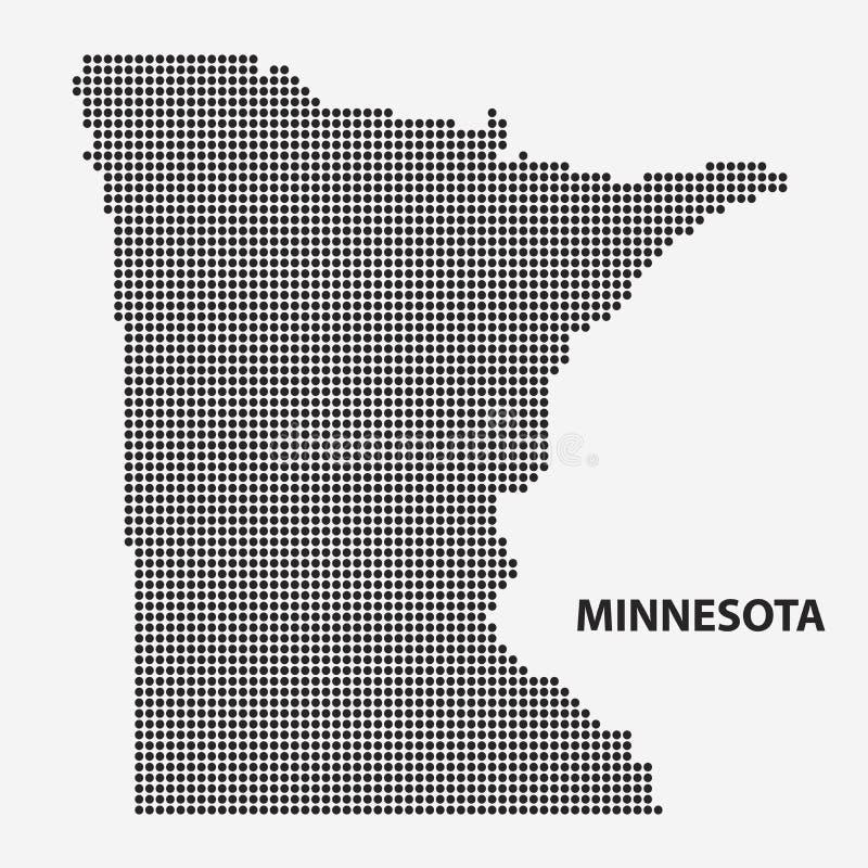 Mapa punteado del estado Minnesota Ilustración del vector ilustración del vector