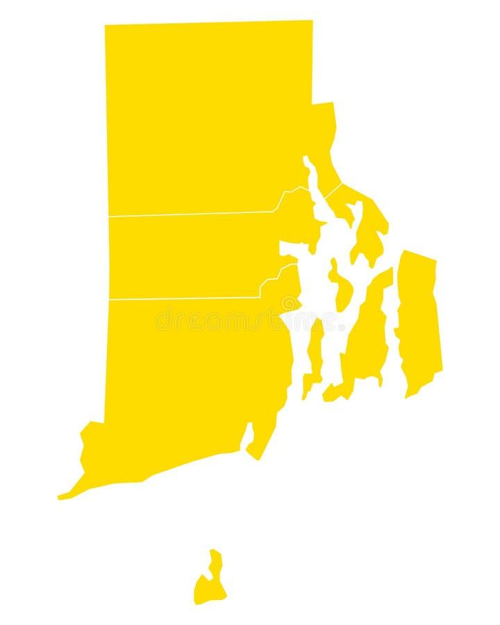 Mapa rhode - wyspa ilustracja wektor