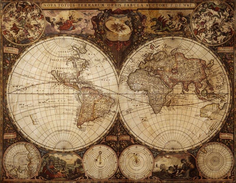 mapa rocznik zdjęcia royalty free