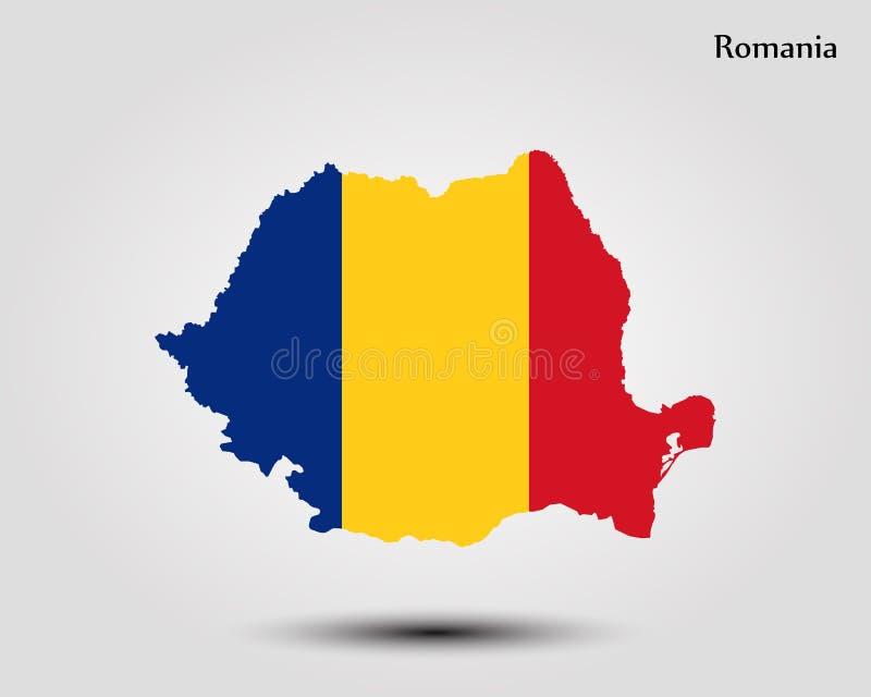 mapa Romania ilustracja wektor