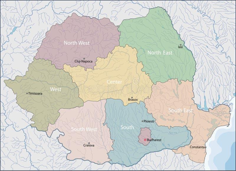 mapa Romania ilustracji