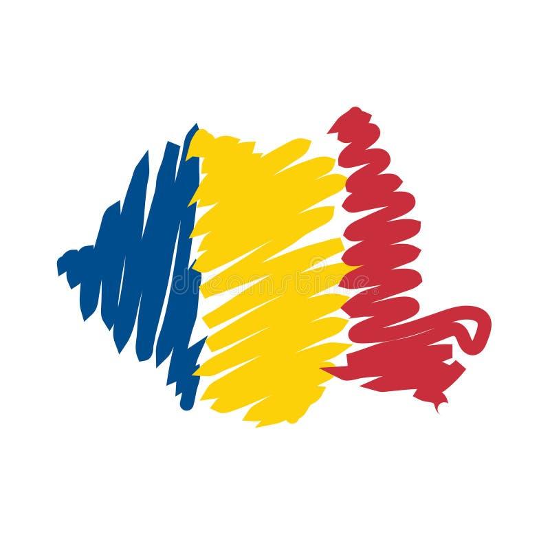 Mapa Romania do vetor ilustração royalty free