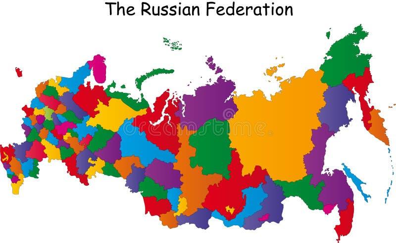 Mapa Rosja ilustracji