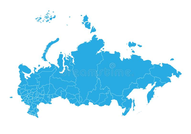 mapa Rosji Wysokość wyszczególniająca wektorowa mapa - Rosja ilustracja wektor