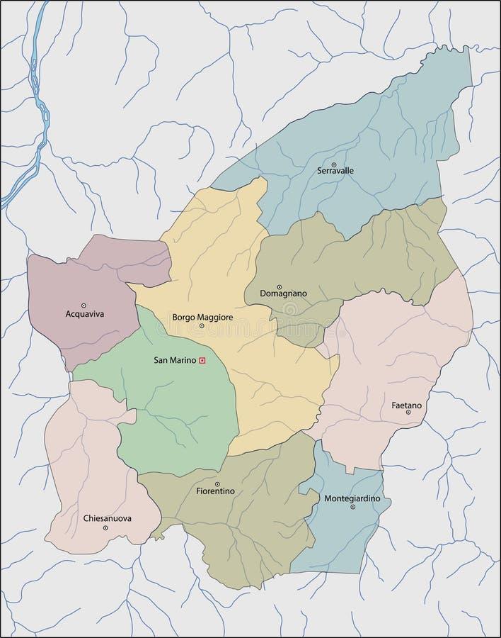 Mapa San Marino royalty ilustracja