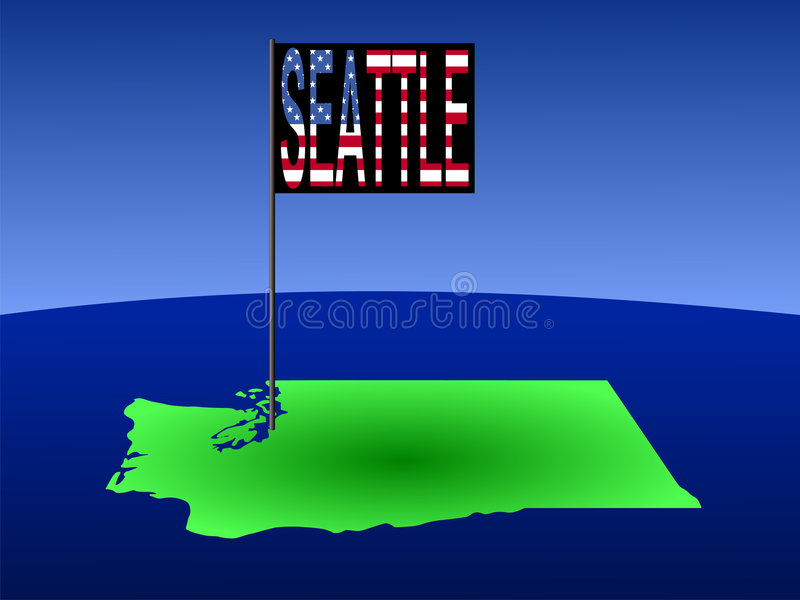 mapa Seattle Washington royalty ilustracja