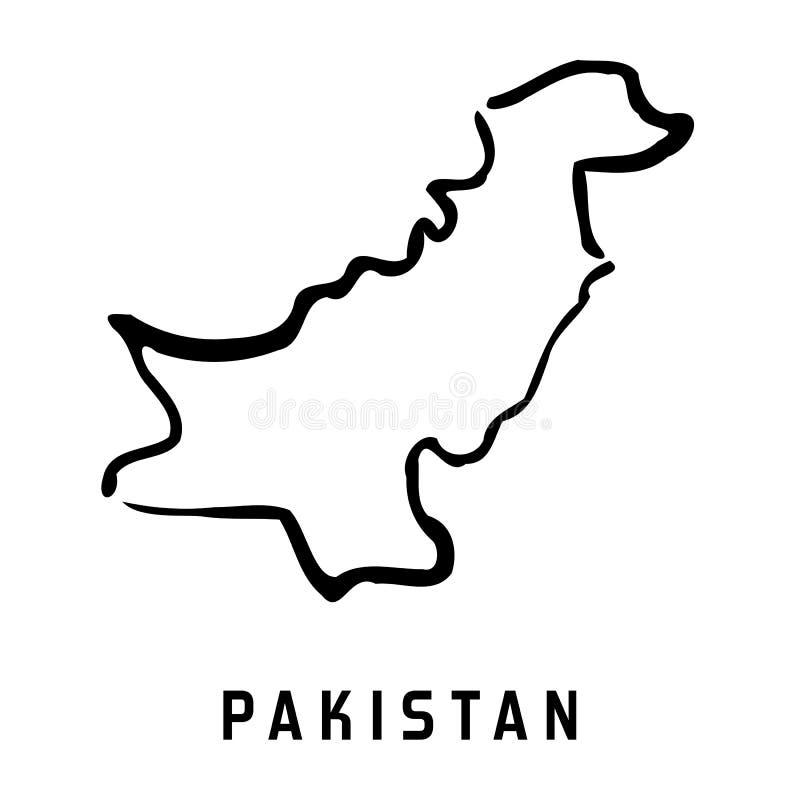 Mapa simple de Paquistán ilustración del vector