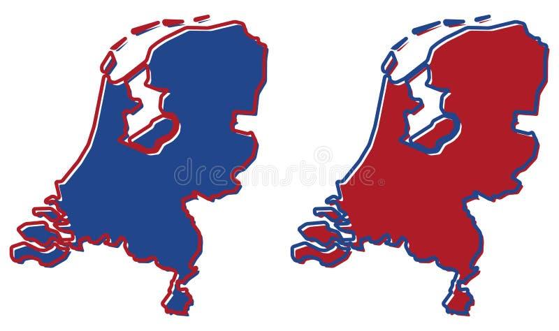 Mapa simplificado del esquema holandés El terraplén y el movimiento son natio ilustración del vector