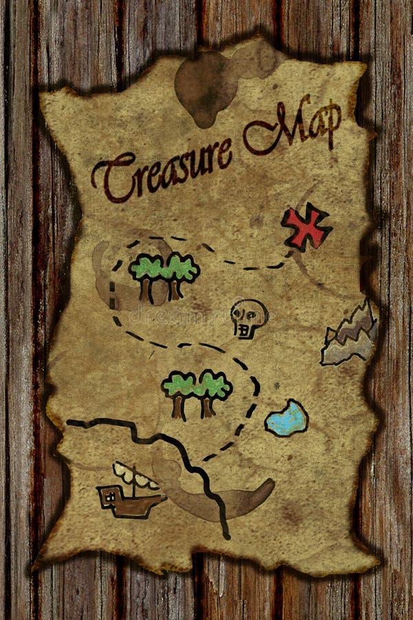 mapa skarb ilustracji